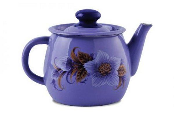 Чайник эмалированный 1 л 2707/4 сиреневый