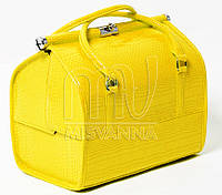 Саквояж, чемодан, сумка мастера,  кейс для визажа,  желтый лак
