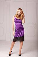 Женское коктейльное платье с кружевом