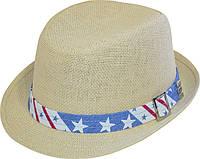 Шляпа детская челентанка солома звезды