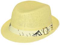 Шляпа детская челентанка солома письмо