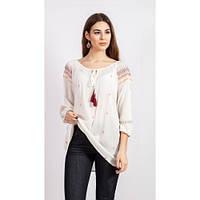 Нежная вышитая блуза-туника