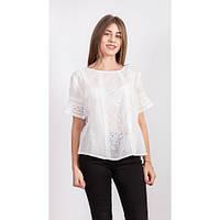 Нежная перфорированая блуза с хлопка