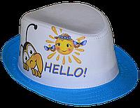 Шляпа детская челентанка фотопринт HELLO