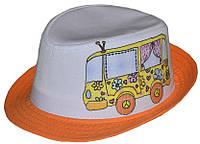 Шляпа детская челентанка фотопринт автобус