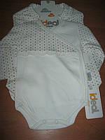 Детский комплект боди +ползунки для новорожденных девочек 50-62см Турция интерлок
