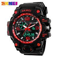 Водонепроницаемые спортивные мужские часы Skmei Hamlet 1155 Red