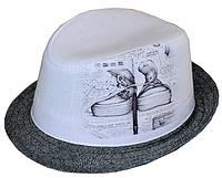Шляпа детская челентанка фотопринт кеды