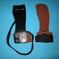 Накладки на ладонь из кожи (защита ладоней для штангистов и гимнастов)