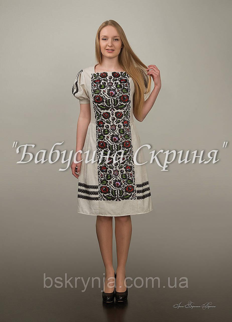 bed560bcdd4 Заготовка Борщівської жіночої сукні для вишивки нитками бісером БС ...