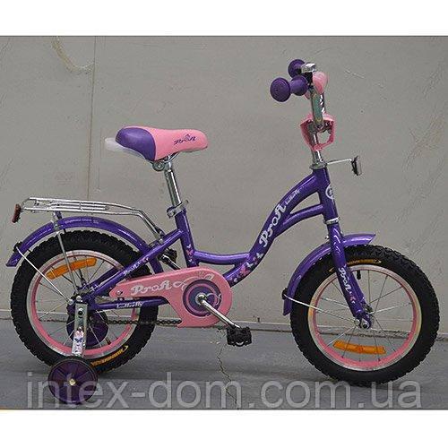"""Детский двухколесный велосипед Profi Butterfly Фиолетовый 16"""" (G1622) с катафотами"""