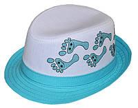 Шляпа детская челентанка фотопринт ножки