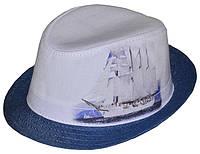 Шляпа детская челентанка фотопринт парусник