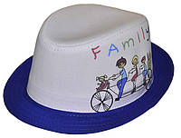 Шляпа детская челентанка фотопринт семья