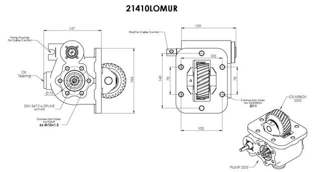 Коробка отбора мощности Hino M153: продажа, цена в Киеве
