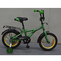 """Двухколесный велосипед Profi Racer Зеленый 16"""" (G1632) с катафотами"""