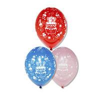 Латексные воздушные шары BELBAL Бельгия пастель с рисунком 12 дюймов/30 см,с дизайнами на тему Дня рождения, ш