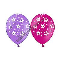 Латексные воздушные шары BELBAL Бельгия пастель круглые с рисунком 12 дюймов/30 см, с рисунком звездочки, шелк