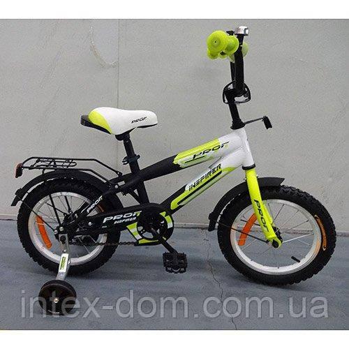 Детский двухколесный велосипед Profi Inspirer Салатовый 18'' (G1854) со звонком