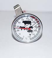 Термометр для консервации, для мяса, для барбекю, для самогоноварения с прищепкой 0° С…+120° С