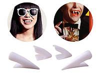 Карнавальные Зубы Клыки Вампира Набор 4 шт Прикол для Вечеринки Маскарад