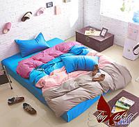 Комплект постельного белья поплин Тм Таg евро размер 0214