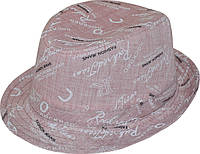 Шляпа детская челентанка х/б принт мелкий розовый