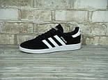 Кроссовки Adidas spezial black white. Живое фото (Реплика ААА+), фото 2