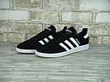 Кроссовки Adidas spezial black white. Живое фото (Реплика ААА+), фото 5