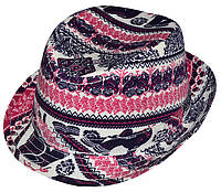 Шляпа детская челентанка х/б слоники
