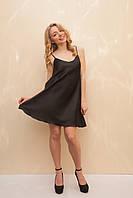 Женское платье в бельевом стиле чёрного цвета