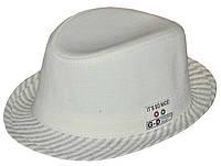 Шляпа детская челентанка шеврон домотканка