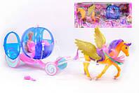 Карета 66616 (6) кукла, лошадь ходит, на батарейке, в коробке