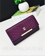 Кошелек клатч Chanel фиолетовый