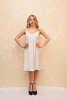 Женское платье в бельевом стиле белого цвета