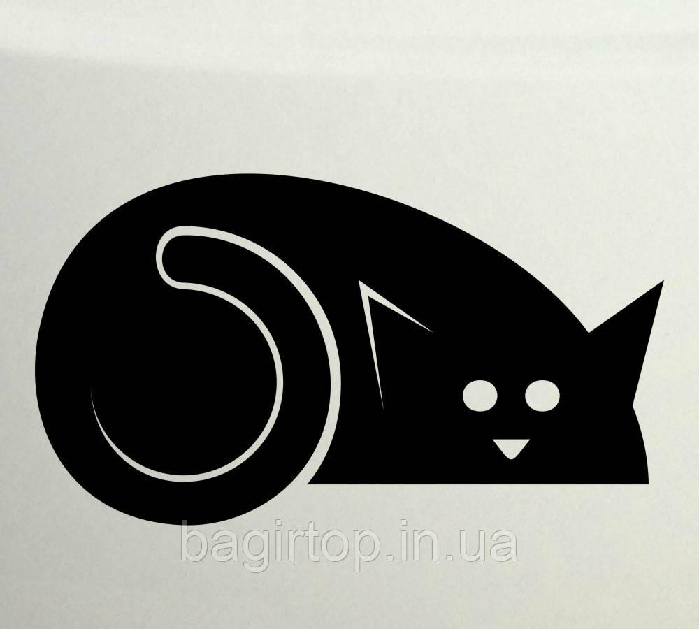 Вінілова наклейка - Кіт спить
