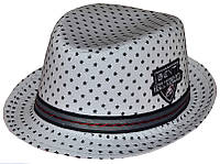 Шляпа детская челентанка шеврон ч/б звезды