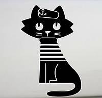 Виниловая наклейка- Кот моряк