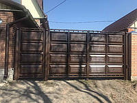 Ворота филенчатые (пробитая филенка) березка