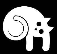 Виниловая наклейка- Кот лежит 2