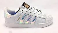 Женские кожаные кроссовки Adidas Superstar ( хамелеон ) - 37,39 р