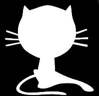 Виниловая наклейка- Кот вытянул лапку