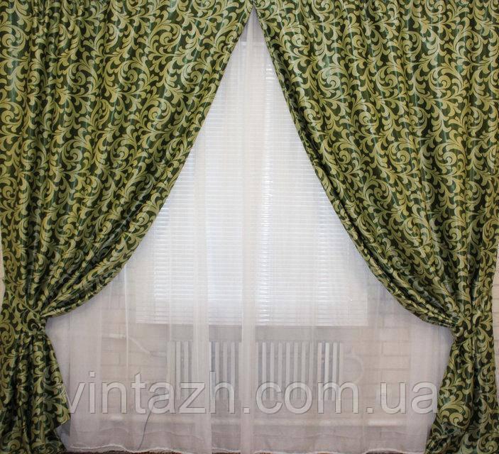 Комплект штор из плотной ткани