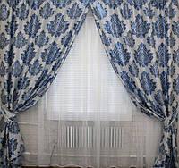 Красивый комплект штор из структурной ткани
