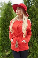 Красивый пиджак женский в 4х цветах LL резной Кисть