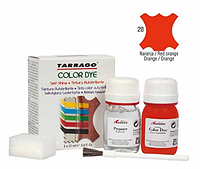Краситель для гладкой кожи и текстиля + очиститель Tarrago Color Dye, 2*25 мл,  цв. красный апельсин (28)
