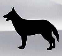 Виниловая наклейка на авто - Овчарка