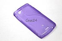 Чехол для Sony Ericsson Xperia Arc S LT18i LT15i фиолетовый