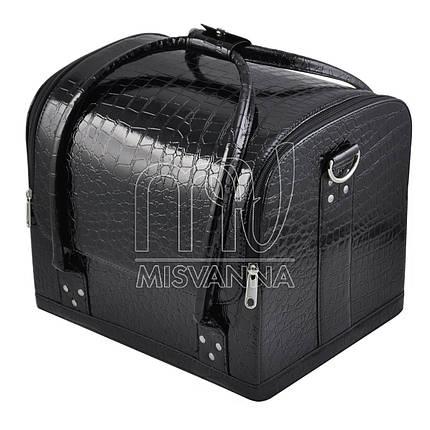Чемодан, сумка мастера, черный лак, фото 2