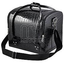 Чемодан, сумка мастера, черный лак, фото 3